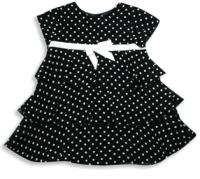 baby easter dresses navy polka dots