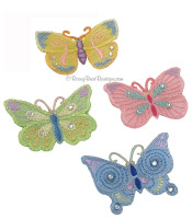 infant hair clips butterly