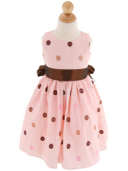 infant easter dresses chocolate dots