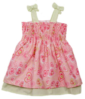 baby easter dresses hearts