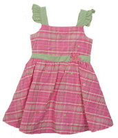 baby easter dresses pink plaid