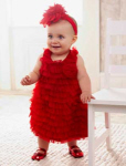 infant christmas dresses red chenille