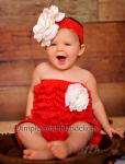 holiday ruffles infant christmas dress