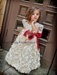 infant christmas dresses satin roses
