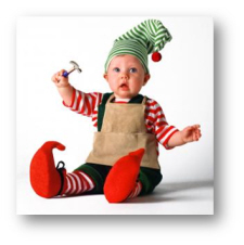 baby christmas costume tom arma elf