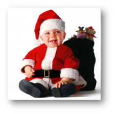 baby Christmas costume tom arma santa