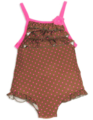 infant swimsuits brown
