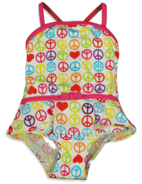 infant swimsuits peace